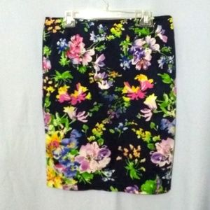 EUC Ralph Lauren Watercolor Floral Skirt